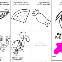 Printable Pink Color Recognition - Printable Preschool Worksheets - Free Printable Worksheets