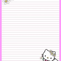 Printable Pink Fairy Hello Kitty - Printable Stationary - Free Printable Activities