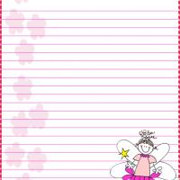 Printable Pink Fairy Stationary - Printable Stationary - Free Printable Activities