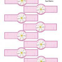Pink Gingham Paper Napkin Ring