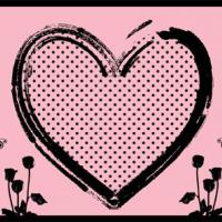 Pink Heart Postcard