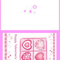 Printable Pink Hearts for Valentines - Printable Valentines - Free Printable Cards