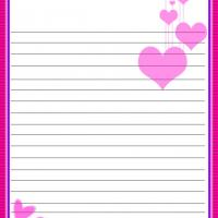 Printable Pink Hearts Stationary - Printable Stationary - Free Printable Activities