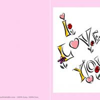 Printable Pink I Love You - Printable Valentines - Free Printable Cards