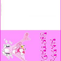 Printable Pink Panther Birthday Card - Printable Birthday Cards - Free Printable Cards