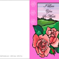 Printable Pink Rose Card - Printable Valentines - Free Printable Cards