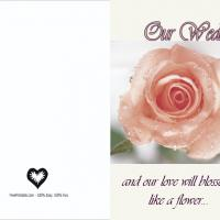 Pink Rose Wedding Invitation