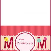 Pink Stripes Mom Card