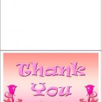 Printable Pink Thank You - Printable Thank You Cards - Free Printable Cards