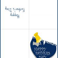 Printable Pinned Blue Pad - Printable Fathers Day Cards - Free Printable Cards