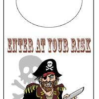 Printable Pirate Door Knob Hanger - Printable Fun - Free Printable Activities