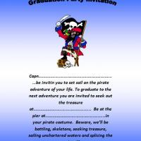 Pirate Graduation Party Invitation