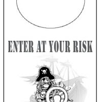 Printable Pirate Ship Door Knob Hanger - Printable Fun - Free Printable Activities