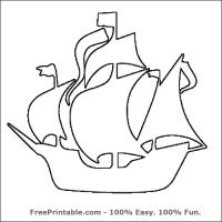 Printable Pirate Ship Stencil - Printable Stencils - Free Printable Crafts