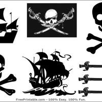 Printable Pirate Stickers - Printable Stuff - Misc Printables