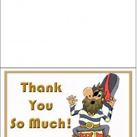 Printable Pirate Thank You Card - Printable Thank You Cards - Free Printable Cards