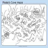 Printable Pirates Cove Maze - Printable Mazes - Free Printable Games