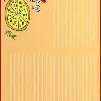 Pizza Recipe Card