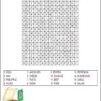 Pizza Word Search