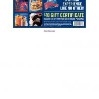 Planet Hollywood $10 Off on Any Food or Beverage Purchase