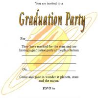 Planetarium Graduation Party Invite