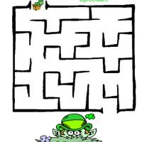 Printable Playful Leprechaun Hiding - Printable Mazes - Free Printable Games