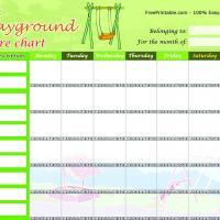 Playground Chore Chart