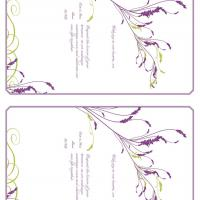 Plum with Green Heather Card Invitation