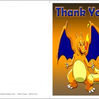 Printable Pokemon Charizard - Printable Thank You Cards - Free Printable Cards