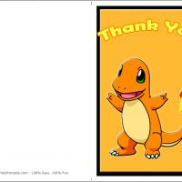 Printable Pokemon Charmander - Printable Thank You Cards - Free Printable Cards