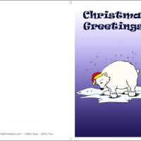 Printable Polar Bear Christmas - Printable Christmas Cards - Free Printable Cards