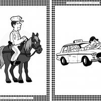 Printable Police and Taxi Driver Flash Cards - Printable Flash Cards - Free Printable Lessons