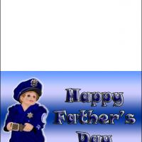 Printable Police Dad Father's Day - Printable Fathers Day Cards - Free Printable Cards