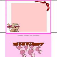 Printable Poodles Envelope - Printable Card Maker - Free Printable Cards