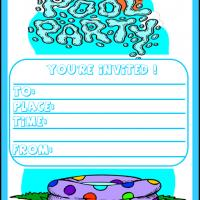 Printable Pool Party Invitations - Printable Party Invitation Cards - Free Printable Invitations
