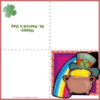 Printable Pot of Gold Card - Printable Greeting Cards - Free Printable Cards