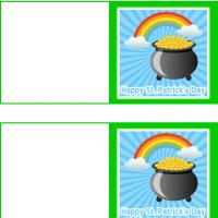 Printable Pot of Gold Under the Rainbow - Printable Greeting Cards - Free Printable Cards