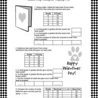 Practical Math Worksheet with Valentine's Day Theme
