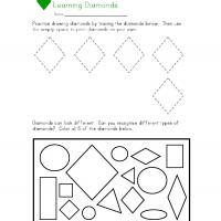 Printable Diamond worksheet - Printable Preschool Worksheets - Free Printable Worksheets
