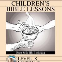 Printable Kinder Bible Study: Esau and His Birthright - Printable Church Worksheets and Lessons - Free Printable Worksheets