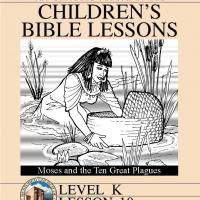 Printable Kinder Bible Study: Moses and the Ten Great Plaques - Printable Church Worksheets and Lessons - Free Printable Worksheets