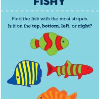 Printable Preschool: Fish Stripes Counting - Free Printable Math Worksheets - Free Printable Worksheets