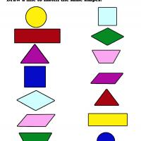 Printable Preschool Simple Geometry - Printable Preschool Worksheets - Free Printable Worksheets