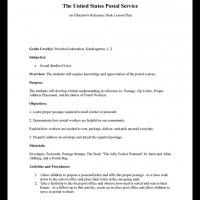 Printable Preschool to Grade 2 Social Studies: United States Postal Service - Printable Lesson Plans - Free Printable Worksheets