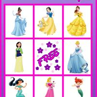 Printable Princess Bingo Card 1 - Printable Bingo - Free Printable Games