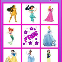 Princess Bingo Card 2