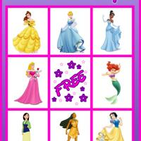 Princess Bingo Card 3