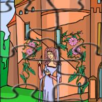 Printable Princess By The Orange Castle - Printable Puzzles - Free Printable Games
