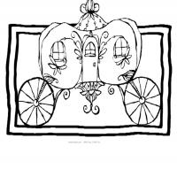 Printable Princess Carriage - Printable Princess - Free Printable Coloring Pages