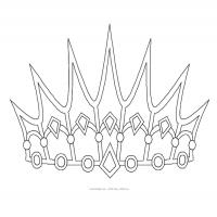 Printable Princess Crown - Printable Princess - Free Printable Coloring Pages